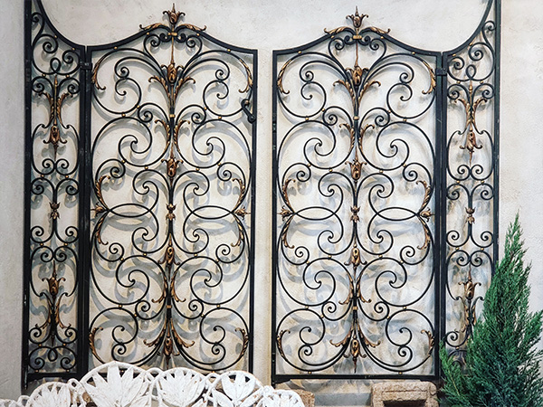 Pair of Elaborate French Wrought Iron Gates Paris Circa 1900