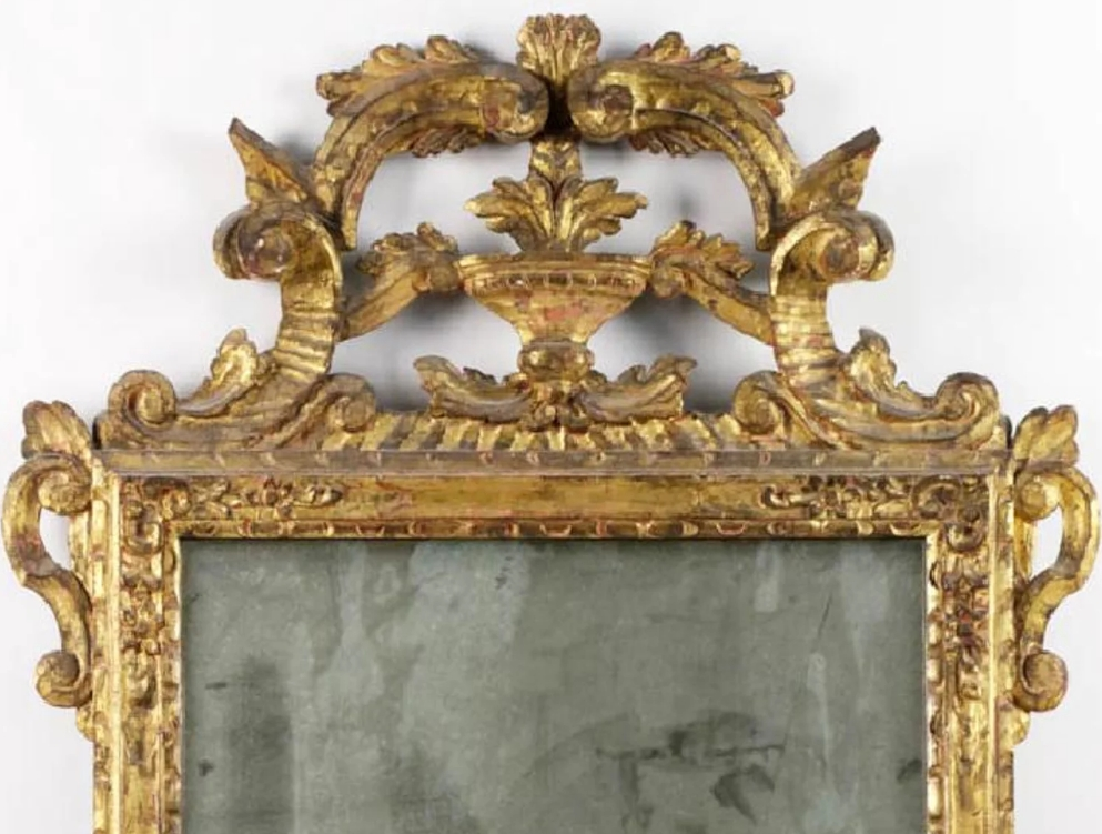 19th Century Gold Gilt French Mirror