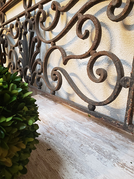 19th Century French Wrought Iron Balcony Panel